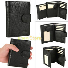 Men's Genuine Leather ZIPPER Wallet Purse ID Credit Card Holder Billfold gift