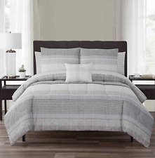 Nile 10-Piece Reversible Cal-King Comforter Set in Neutral *missing shams*