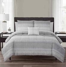 Nile 10-Piece Reversible Cal-King Comforter Set in Neutral *missing shams*