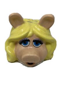 MISS PIGGY COIN BANK PIGGY BANK SAVINGS THE MUPPRT SHOW PORCELAIN HAND PAINTED