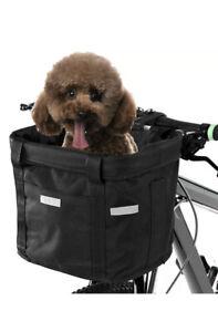 Bicycle Front Basket Storage Bike Cycle Pet Dog Carrier Bag Folded Waterproof