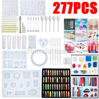 48/277pcs Resin Casting Molds Kit Jewelry Pendant Silicone Mould Making Craft