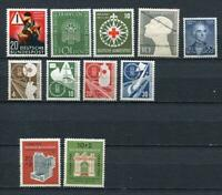 Germany 1953 Mi 162-172 MNH(1 stamp is MH) CV 215 euro Complete Year (-4 st)2471
