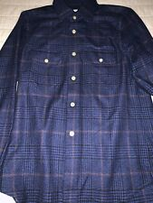 $2495 Kiton Men Cashmere Shirt Hand Made in Italy  S