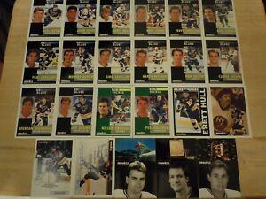 ST. LOUIS BLUES ~ 1991-92 Pinnacle French TEAM SET ~ 23 Hockey Cards ~ JOSEPH