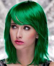 Women's Short Layered Spiky Bangs Emerald Green Anime Punk Joker Costume Wig