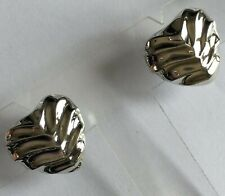 Great Quality 925 Sterling Silver Heart-Shape Textured Stud Earrings ~ 3.8 grams