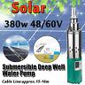 380W Solar Powered Water Pump 1.2m³/h Submersible Bore Deep Well Hole Farm