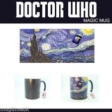 Doctor Who Starry Night Tardis Magic Mug Changing Color Coffee Tea Illustration