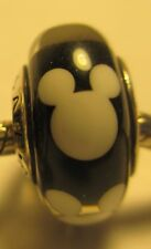 New Authentic Silver 925 Ale Pandora Bead Charm Murano Glass Disney Mickey Mouse
