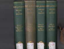Ben Johnson (first 7 volumes of the 11 vol. set), ed. Herford and Simpsons 1925