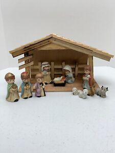 Holly Tree Christmas Youth Nativity Set #2026CRT 11 Piece Manger Children Kids