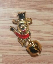 Bell Pin / Brooch *Read* Unbranded Gold Tone Christmas Collectible Snowman