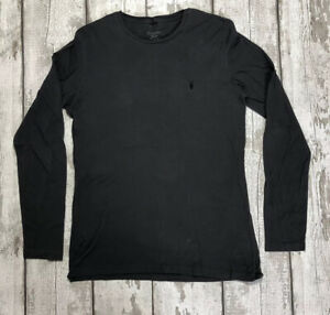 ALL SAINTS Size M Charcoal Grey Long Sleeve Top Mens Autumn Winter Casual