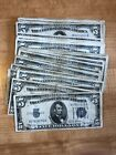 1934 Five Dollar Blue Seal Note Silver Certificate Old US Bill $5 Free Shipping