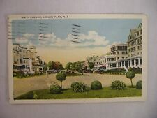 Vintage Postcard Town View On Sixth Avenue In Asbury Park New Jersey 1925