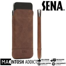 SENA Heritage Ultra Slim Genuine Leather Pouch Sleeve For iPhone 7 /6s /6 COGNAC