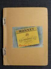 MONNET ET Cie COGNAC rare tapuscrit relatif au Cognac et à la maison Monnet 1959