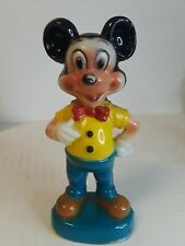 Vintage Mickey Mouse Statue Plastic - Hong Kong- Walt Disney Productions