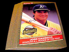 JOSE CANSECO #55 ~ 1986 Donruss (Highlight Rookie RC) ~ LOT OF TWENTY (20) CARDS