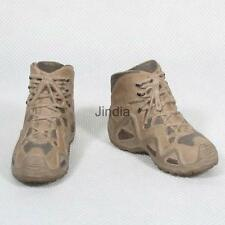 """Sand Military Combat Boots Shoes 1/6 Fit 12"""" Hot Toys Dragon Action Figure"""
