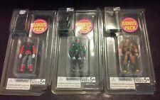 "New G.I. Joe Bonus Packs 3 Different Ones Figures  3 3/4"" And Weapons"