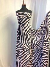 """Nuevo diseñador de gasa Vestido de Tela Dusky Zebra Print Blusa Sarong 59""""151cm"""