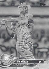 Seth Smith 2018 Topps Series 2 Black White Negative #663 - Orioles