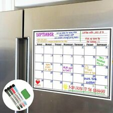 Fridge Calendar Magnetic Dry Erase Plan Board for Kitchen Refrigerator 17x11