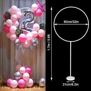 1/2 Set Balloon Column Arch Base Display Stand Kit Christmas Wedding Party Decor