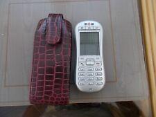 VODAPHONE SAGEM VS-1 SILVER MOBILE PHONE WITH CASE