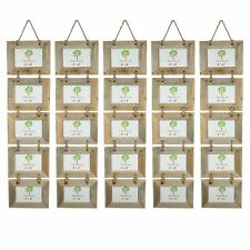 """Shabby Chic Style rustique en bois Flotté Hanging 5 Cadre Photo-6x4"""" X5"""