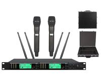 Professional Stage Microphone Karaoke System Wireless Vocal Mics True Diversity