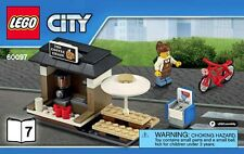 LEGO City Coffee Shop Bicycle & Barista Minifigure Train Station Idea 60097