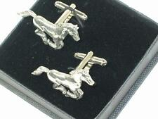 Running pony Handcrafted English Pewter Cuff links
