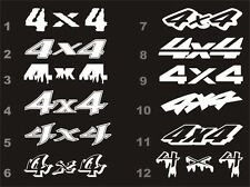 4x4 decals fits Chevy Silverado bedside 12 styles 15 colors