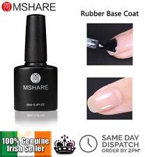 Rubber Base Coat Nail Gel Polish Clear Thick UV LED Semi Permanent MSHARE