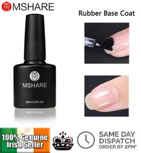 Rubber Base Coat Clear UV LED Nail Gel Polish Soak Off Extra Strength Gel Polish