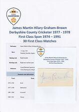 James Graham Brun-Derbyshire + 1977-1978 original hand signed Cutting