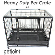 XL Strong Heavy Duty Pet Puppy Dog Cat Rabbit Crate Cage Kennel House Pen Castor
