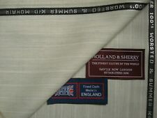 Holland & Sherry SUPER 100's WOOL & SUMMER KID MOHAIR SUITING FABRIC = 3.4 m.