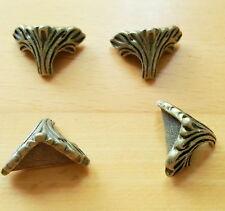 Standfüße Mini 4 Stück Truhe Schatullen Schmuckkasten Bronze Retro neu Z 41