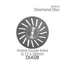 Dental Lab Diamond Disc #8 (22mm x 0.17mm) Double Sided, Perforated  3-Pieces