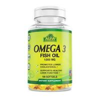 Omega 3 Fish Oil 1000 mg Softgels, 100 Count
