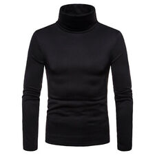 Mens Thermal Cotton Turtle Neck Skivvy Turtleneck Sweaters Stretch Shirt Tops US