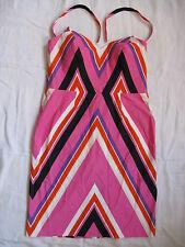 JOOP! Damen Kleid Stretch Neckholder Gr.40/M women dress elastane abstract