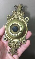 Antique Victorian  Push Button Doorbell Door Bell Brass