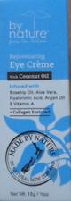 NEW BY NATURE Rejuvenating Eye Creme W/Coconut Oil 1/2oz./15g Exp.2022
