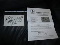 Tom Landry Jack Ham Bob Griese autographed First Day Cover Beckett Certified