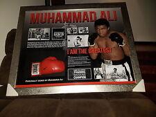 Muhammad Ali framed, personally signed glove